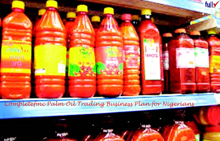 Palm Oil Business Plan Template For Starters