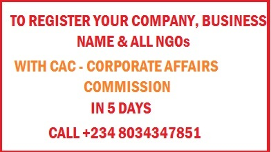 Incorporate Your Business @ C.A.C. Nigeria: