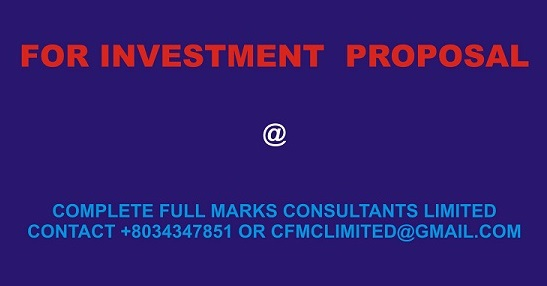 Why You Need Investment Proposal!