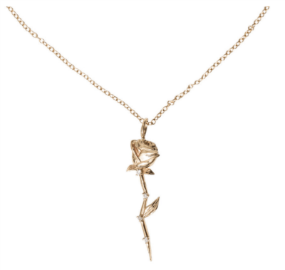 sofia zakia gold rose necklace