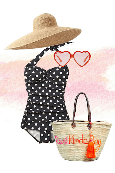 polka-dot-trend-swimsuit-floppy-hat-outfit-summerpng