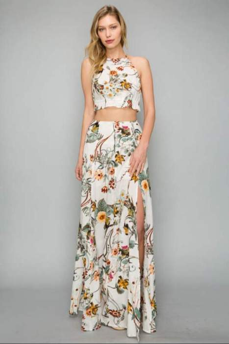 two-piece-matching-set-maxi-skirt-halter-crop