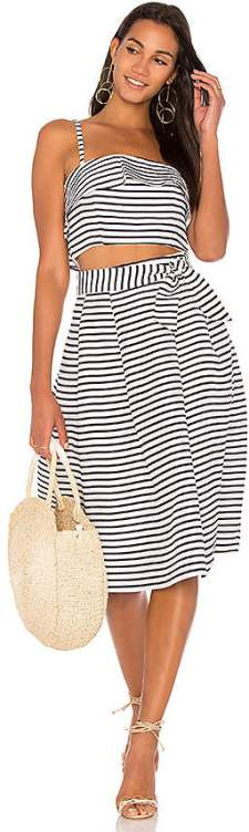 two-piece-matching-set-stripe-midi-skirt