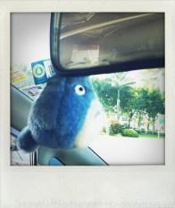 My neighbor ... in my car.