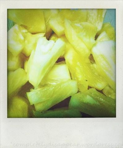 Pineapple as dinner