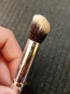 dense concealer brush for extra coverage under eyes, eyelids, blemishes, scarring, etc.