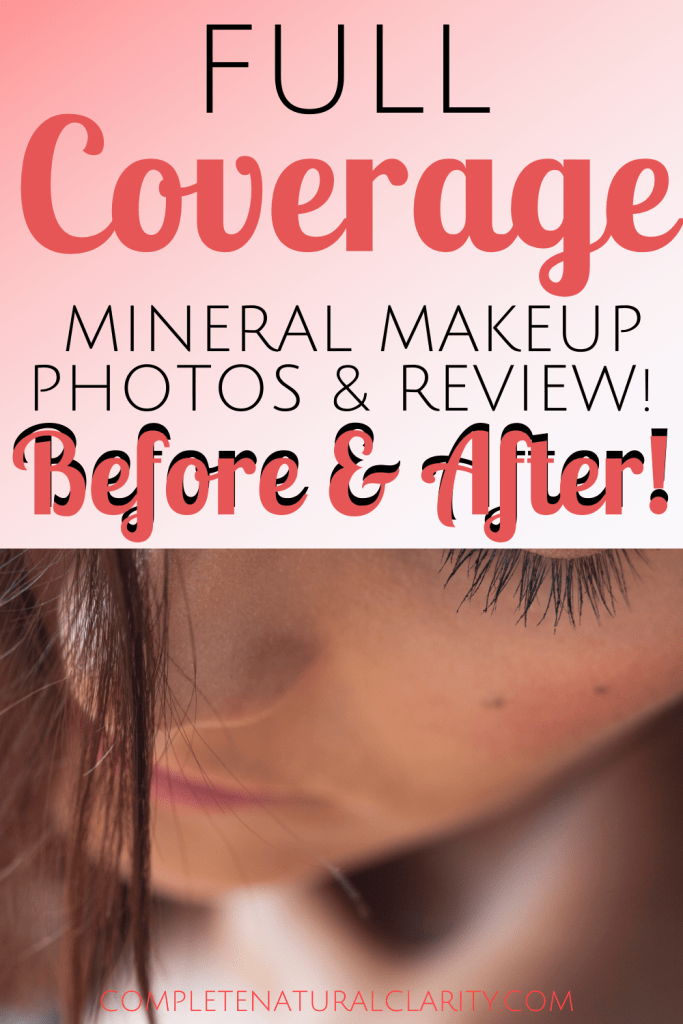 Full Coverage Mineral Makeup Routine with Before/After Photos using Pure Anada's Mineral Foundation, which is the ONLY mineral makeup I've ever found in green beauty with zero fillers that offers maximum coverage of ALL major skin concerns such as acne, blemishes, scarring, hyperpigmentation, & even the worst case of dermatitis! Click to read my full clean beauty makeup routine & find a bonus coupon code in the post! #mineralmakeup #pureanada #acnecoverage #fullcoveragefoundation