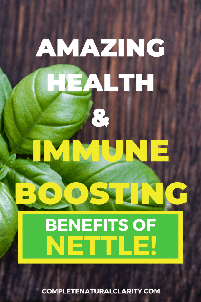 Amazing Health & Immune Boosting Benefits of Nettle! It's more important than ever to nurture our bodies with a healthy, strong immune system! Learn about this incredible herb in the form of Nettle Tea or Nettle Extract that has a TON of health benefits, providing a MAJOR IMMUNE BOOST! From pain relief, to heart health, learn ALL the benefits of this amazing natural remedy! #nettle #naturalremedy #immunesupport #herbalremedies #herbalmedicine