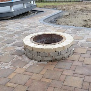 brick paver firepit
