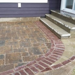 portage lake patio with steps