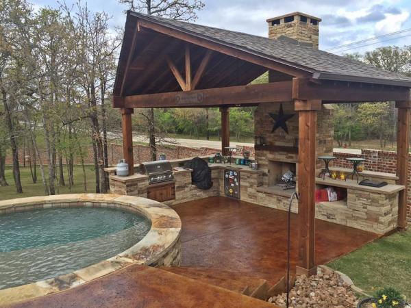 outdoor patio deck Patio and Deck Acid Staining | Remodeling Contractor