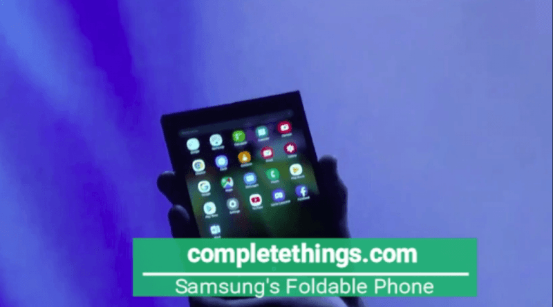 Samsung's Fold-able Display Phone is coming soon.