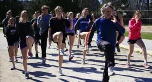 track athletes practice