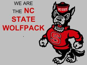 We are the NC State wolfpack.