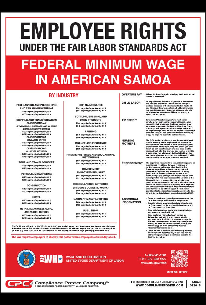american samoa federal minimum wage poster