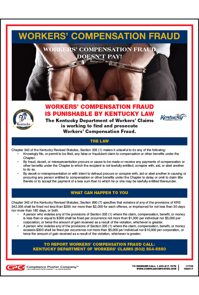 kentucky workers compensation fraud poster