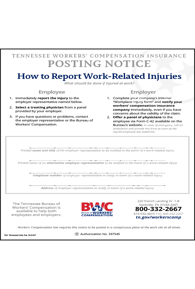 tennessee 2018 workers compensation peel n post