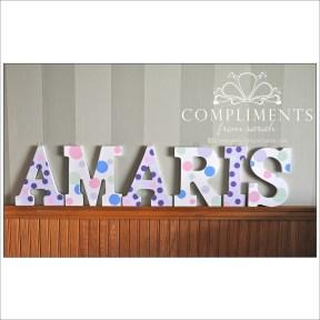 hand painted letters amaris