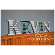 hand painted letters kevin