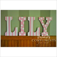 hand painted letters lily