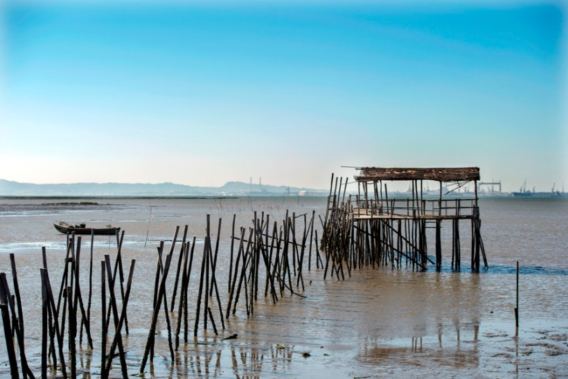 At the end of the pier in Carrasqueira