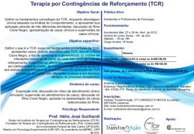 Curso de Terapia por Contingências de Reforçamento com o prof. Hélio Guilhardi - Salvador/BA 5