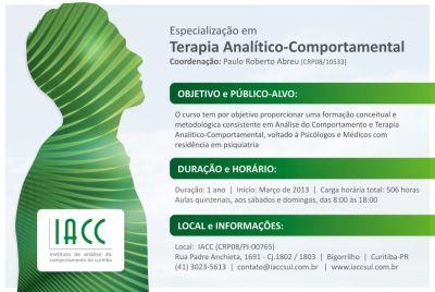 Especialização em Terapia Analítico-Comportamental - IACC (Curitiba/PR) 5