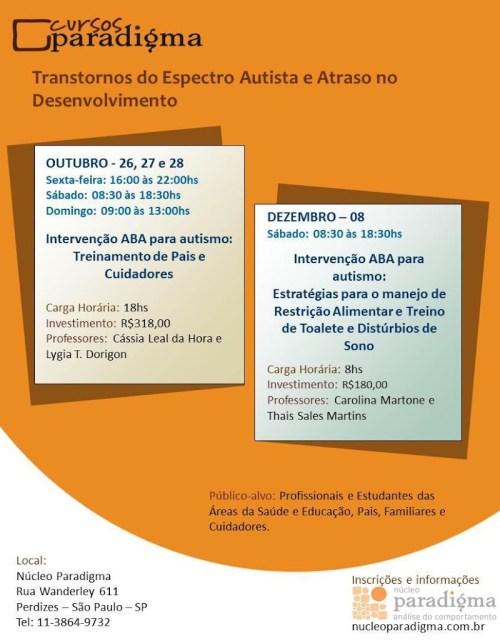 Cursos no Núcleo Paradigma - Intervenção ABA em Autismo - São Paulo/SP 5