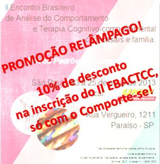 Promoção Relâmpago - 10% de desconto na inscrição no II EBACTCC! 5
