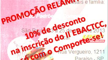 Promoção Relâmpago - 10% de desconto na inscrição no II EBACTCC! 22