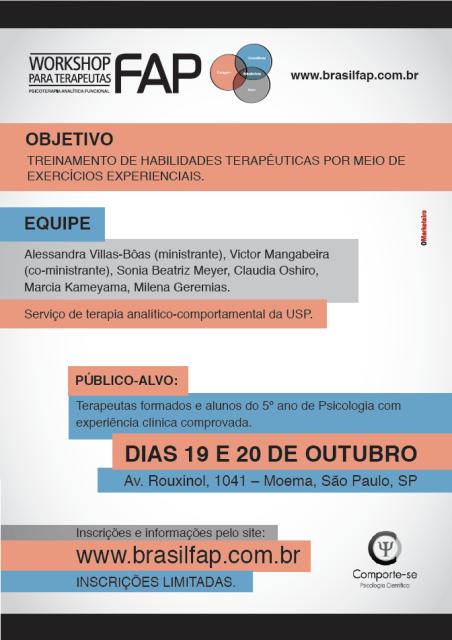 Workshop para terapeutas FAP - São Paulo/SP 5