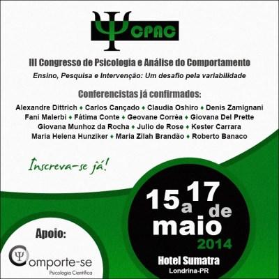 III Congresso de Psicologia e Análise do Comportamento - CPAC (Londrina/PR) 5