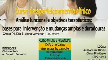 Curso de Aperfeiçoamento de Análise Funcional e Objetivos Terapêuticos - Brasília/DF 19