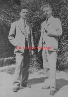 Skinner e Keller em Harvard, 1931.