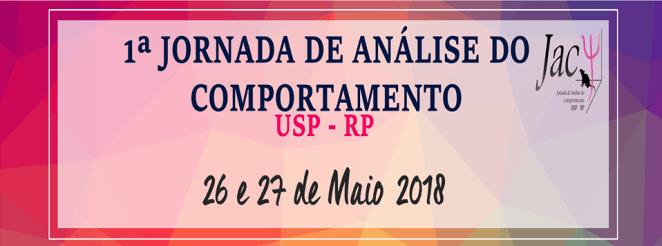 1ª Jornada de Análise do Comportamento USP - RP 1