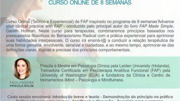 Curso Online (teórico e experiencial) de FAP: 8 semanas - Psicoterapia Analítica Funcional 7
