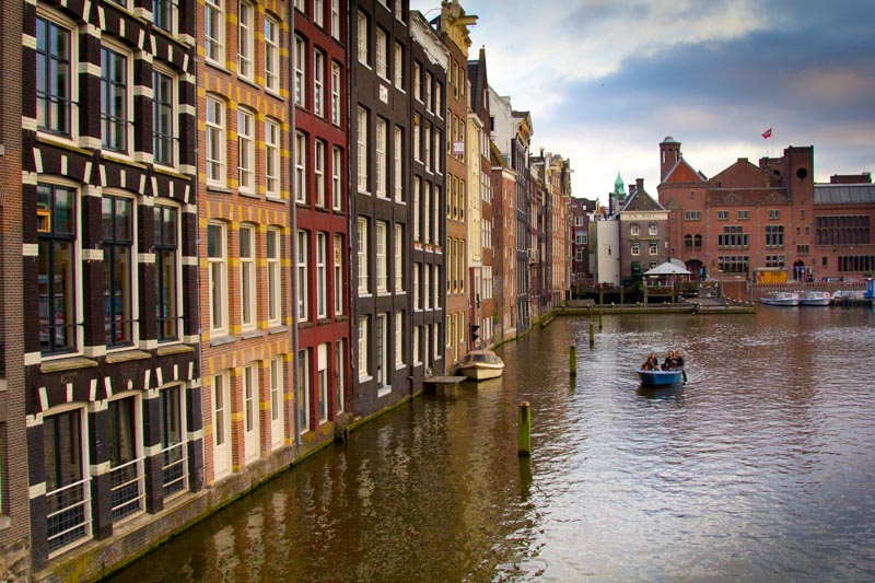 Coloured houses of Amsterdam