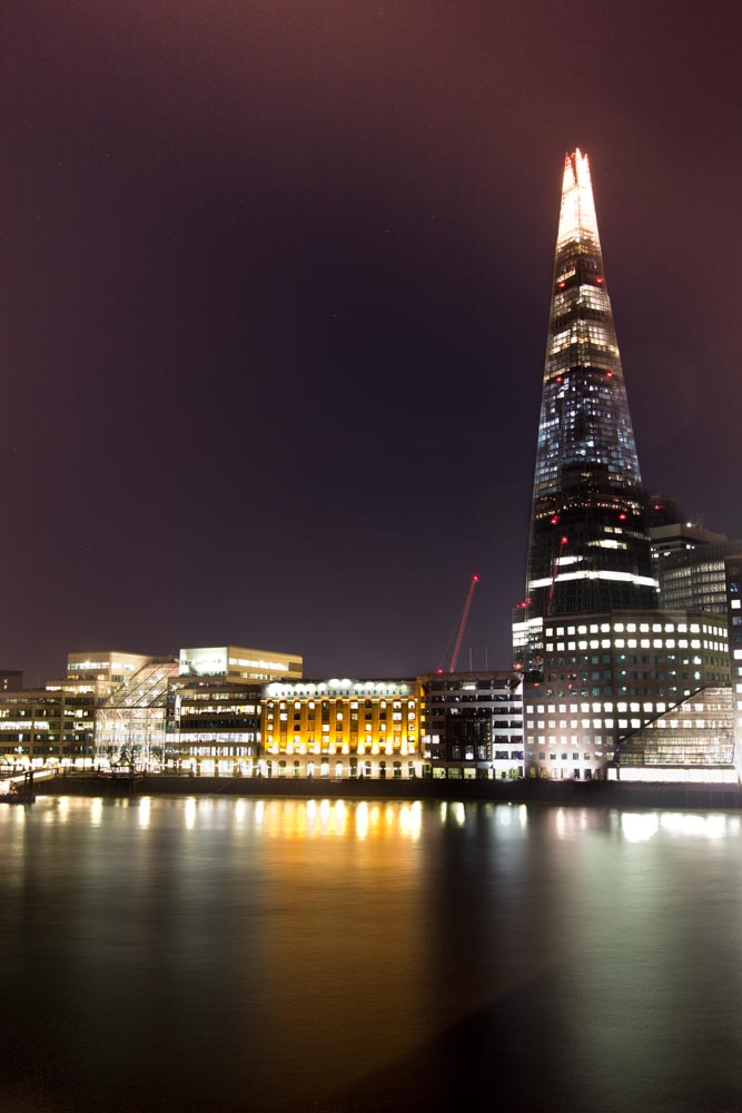 The shard by night