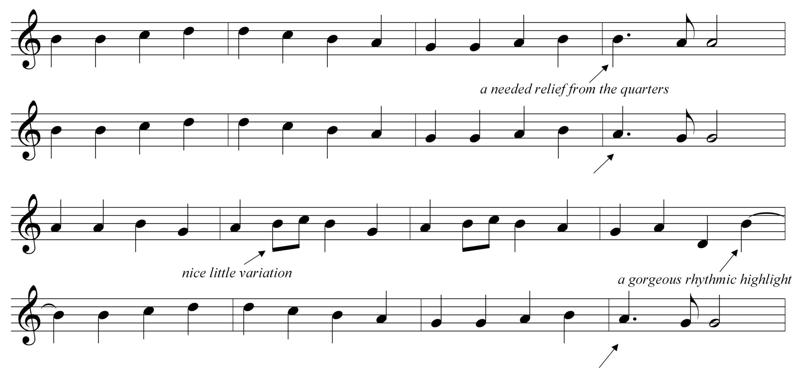 A Good Melody Rhythm