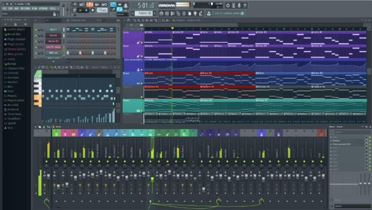 interface de fl studio 12