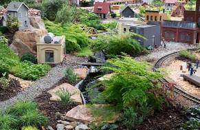 A stream in the railroad garden
