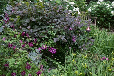 Plum and Pewter bed
