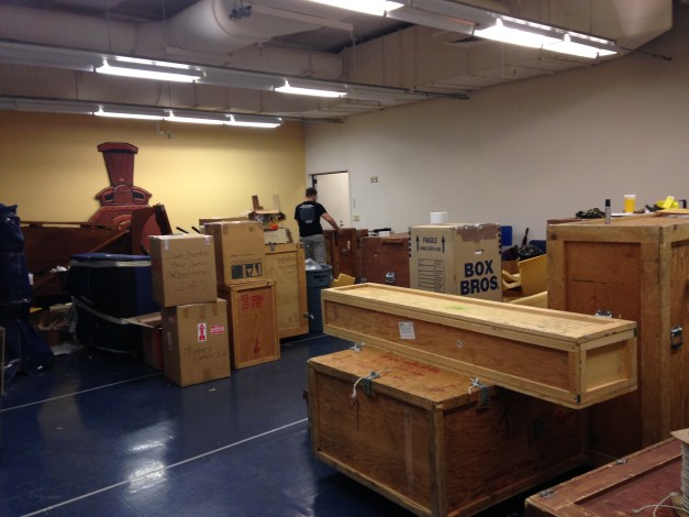 Harry's instruments, packed and boxed for shipment
