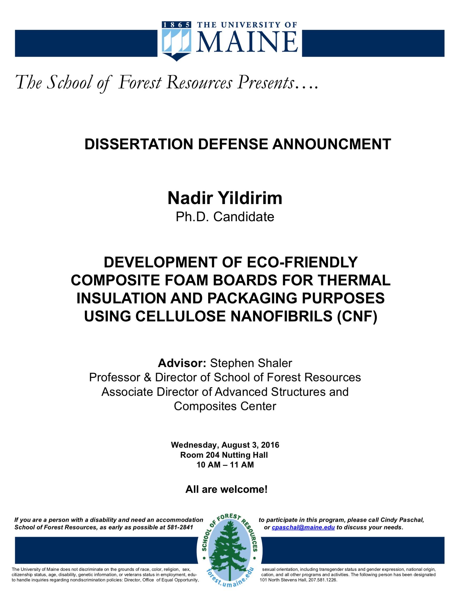 defense of dissertation