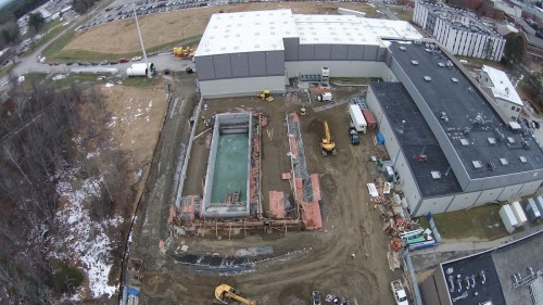 Construction progress of Alfond labs, shown on December 15, 2014.