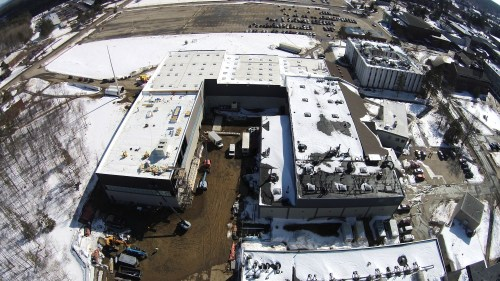 Construction progress of Alfond Labs shown on March 11, 2015.