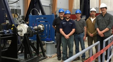 ORPC and University of Maine ASCC team members for the Power Take Off Project