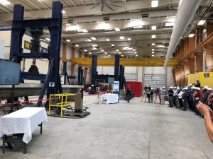UMaine performs test on innovative bridge girder made of composite materials