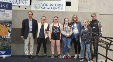 Winning windstorm team from King Middle School
