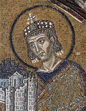 Mosaic of Constantine Hagia Sophia